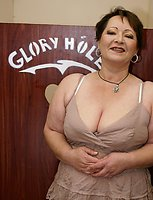This big titted mature slut gets a taste of cock