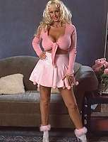 Pretty in pink better in flesh cum addict granny bares it all