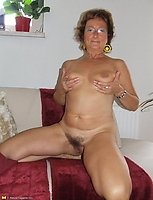 Hairy amateur housewife getting naked